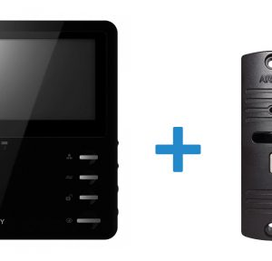 Видеодомофон + Панель вызова (AVD-410M + AVP-05)