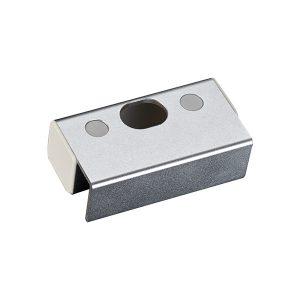 Ответная алюминиевая планка BBK-601 с креплением на стеклянную дверь без рамы для замков серии YB-100/200