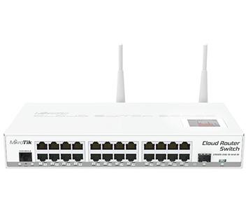 24-портовый управляемый Cloud коммутатор с Wi-Fi CRS125-24G-1S-2HnD-IN