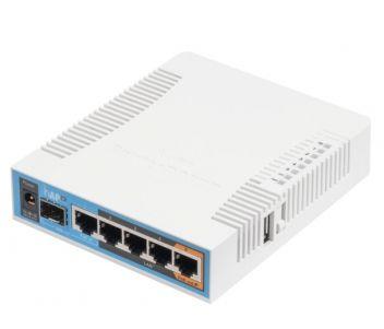 Двухдиапазонная Wi-Fi точка доступа с 5-портами Ethernet  для домашнего использования hAP ac (RB962UiGS-5HacT2HnT)