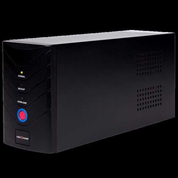 ИБП LogicPower 1400VA, 2 евророзетки, 5 ступ. AVR, 2×7.5Ач12В, металлический корпус, Черный цвет(840Вт)