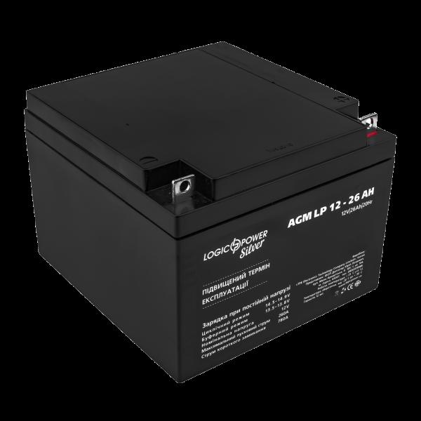 Аккумулятор AGM LP 12 — 26 AH SILVER