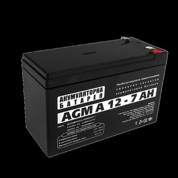 Аккумуляторная батарея  AGM А 12 — 7 AH