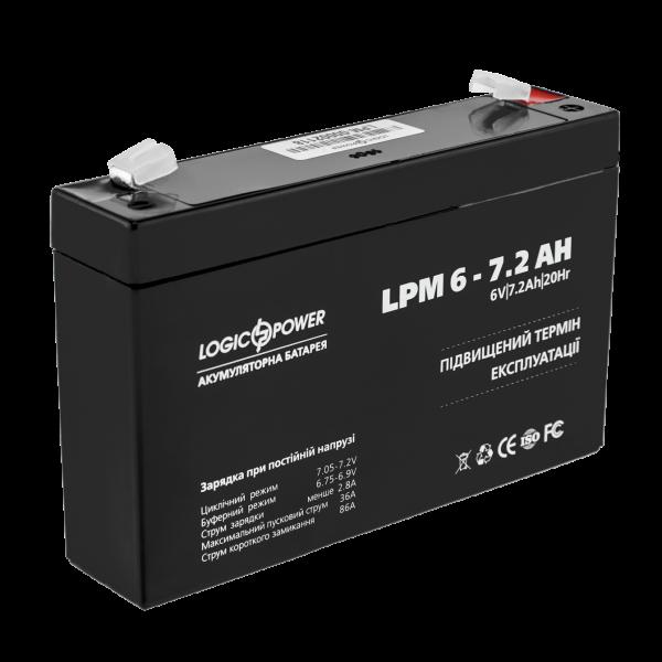 Аккумулятор AGM LPM 6-7.2 AH