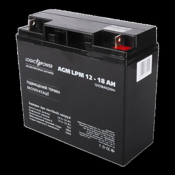 Аккумулятор AGM LPM 12 — 18 AH