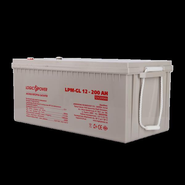 Аккумулятор гелевый  LPM-GL 12 — 200 AH