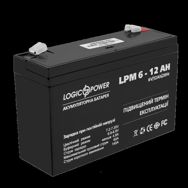 Аккумулятор AGM LPM 6-12 AH