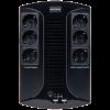 ИБП LP 650VA-6PS 6 евророзеток, 5 ступ. AVR, 7.5Ач12В, пластиковый корпус, Черный цвет(390Вт)