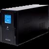 ИБП LPM-L1100VA, LCD дисплей, 3 евророзетки, 3 ступ. AVR, 2×7.5Ач12В, металлический корпус, Черный цвет(770Вт)