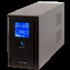 ИБП LPM-L1550VA, LCD дисплей, 3 евророзетки, 3 ступ. AVR, 2×9Ач12В, металлический корпус, Черный цвет(1085Вт)