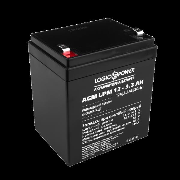 Аккумулятор AGM LPM 12 — 3.3 AH