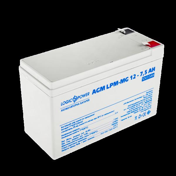 Аккумулятор мультигелевый AGM LPM-MG 12 — 7,5 AH