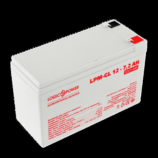 Аккумулятор гелевый LPM-GL 12 — 7,2 AH