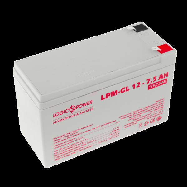 Аккумулятор гелевый LPM-GL 12 — 7,5 AH