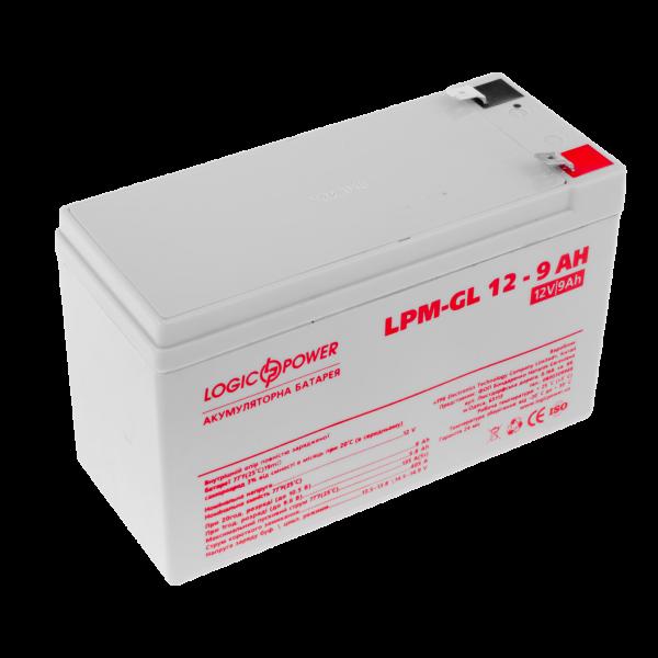 Аккумулятор гелевый LPM-GL 12 — 9 AH
