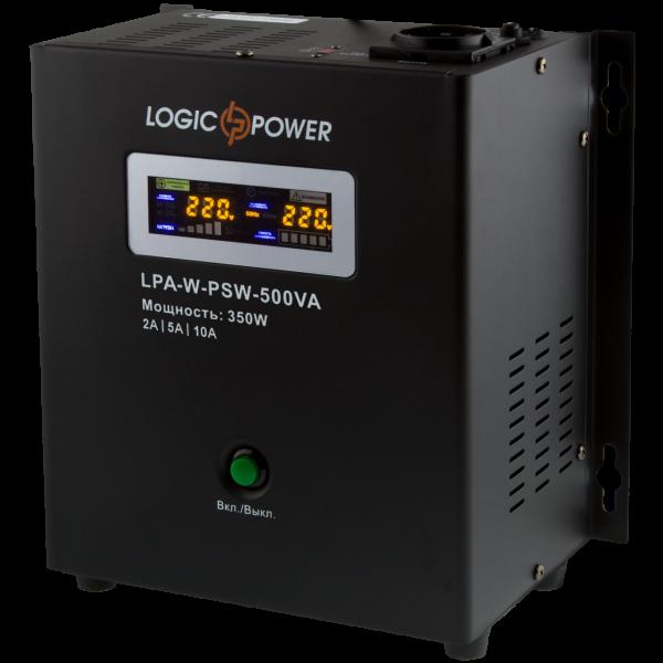 ИБП Logicpower LPA-W-PSW-500VA(350Вт) 2A/5A/10A с правильной синусоидой 12В