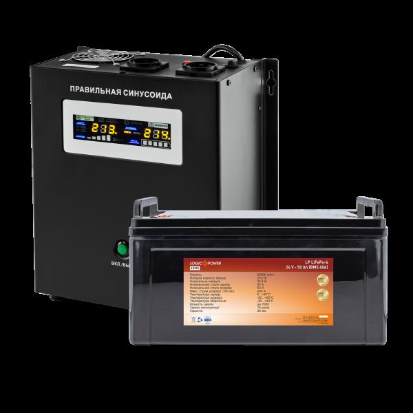 Комплект резервного питания для котла Logicpower W1500 + литеевая (LifePo4) батарея 1440 ватт