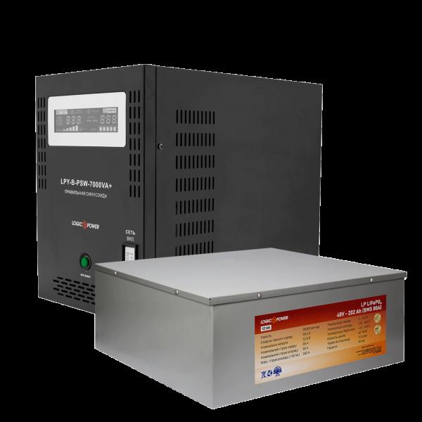 Комплект резервного питания Logicpower B7000 + литеевая (LifePo4) батарея 11600 ватт